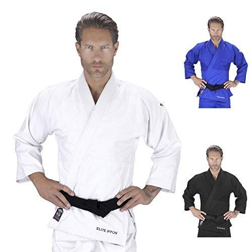 Elite Sports Deluxe Adult IJF Judo Gi w/ Preshrunk Fabric & Free Belt