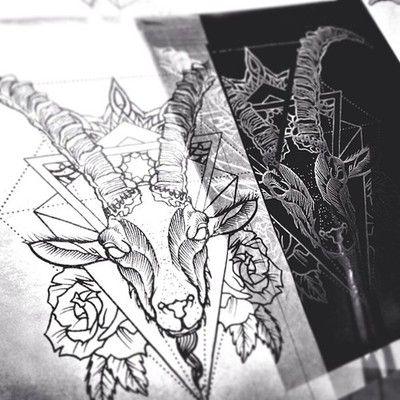 Project for today #capricorn #progress #tattoo