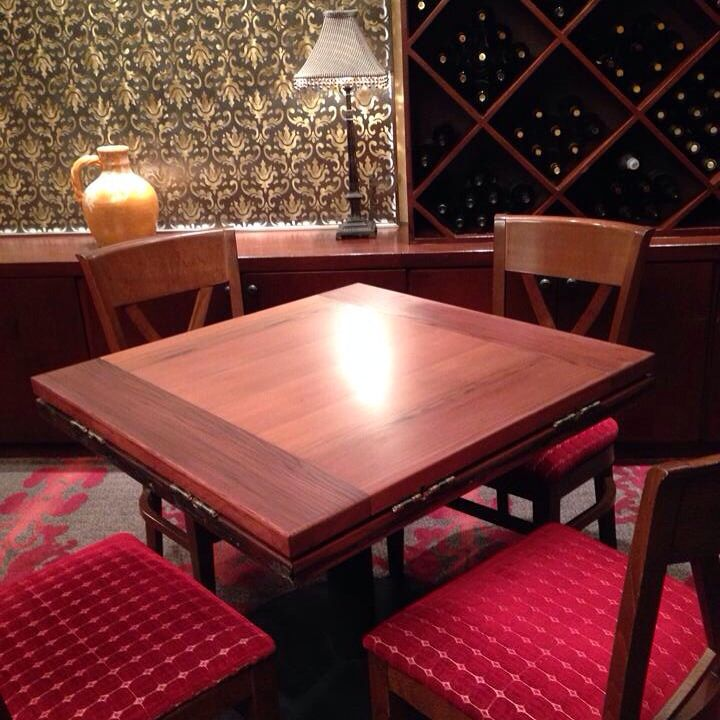 Reclaimed Old Growth Redwood Restaurant Table For Scalau0027s Bistro @kimpton
