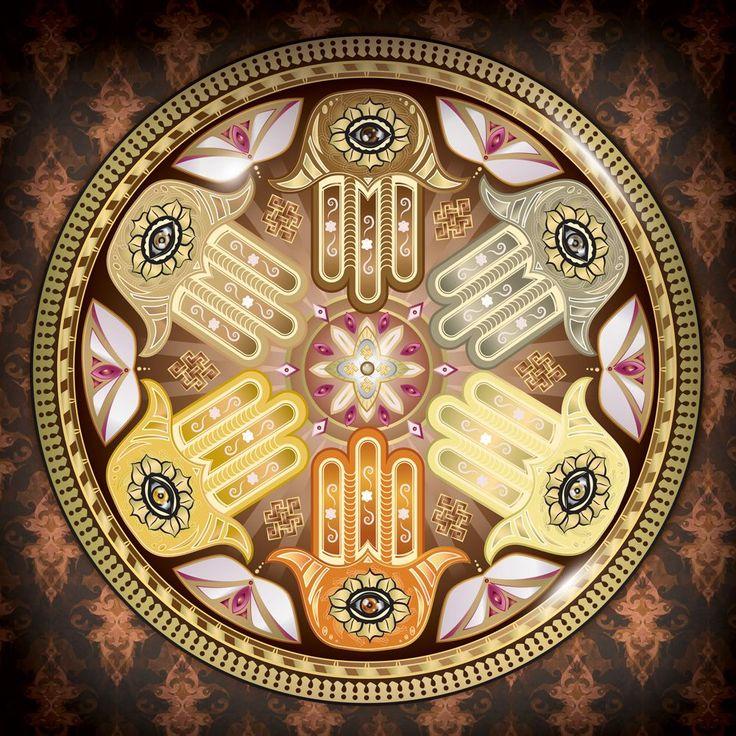 Védelmező Hamsa Mandala - Freedom Flow FengShui Webshop by Skultéty Andrea