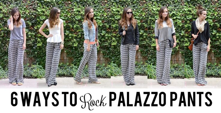 Merricks Art: 6 WAYS TO ROCK PALAZZO PANTS WITH LULU*S...but you have to have longer legs to really work this....):