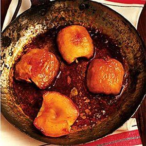Roasted Apples with Buttermilk Custard Sauce