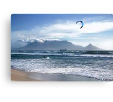 Kite Surfing in Cape Town, South Africa Canvas Print