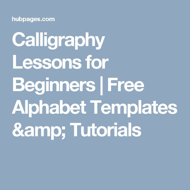 1000 Ideas About Calligraphy Lessons On Pinterest How