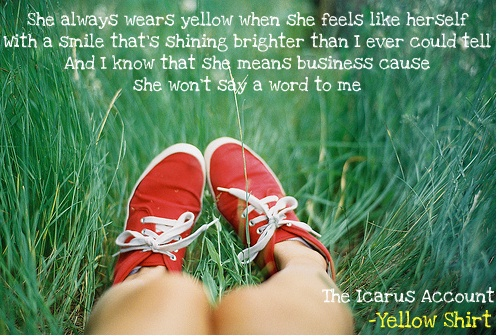 Yellow Shirt - The Icarus Account (I love this song soo much!!)