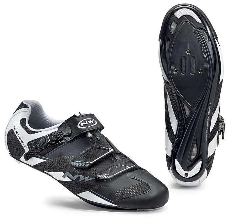 Northwave Sonic 2 SRS Road Cycling Shoes - Black-White