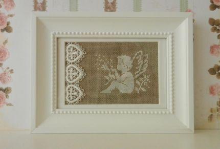 stick bild engel mit pusteblume im rahmen in schleswig holstein l beck ebay kleinanzeigen. Black Bedroom Furniture Sets. Home Design Ideas