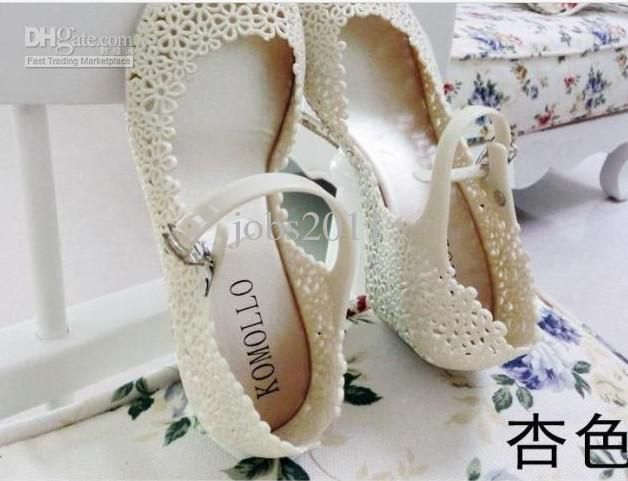 Wholesale Jelly Shoes - Buy Competitive Price Elegant New Melissa Jelly Shoes Wedge Sandals Hollow Flower Mesh Hole Shoes Sandals Crystal Nest Hot Sale High Quality, $23.52 | DHgate