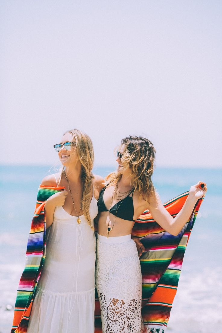 Having fun under the sun!  Models are wearing our #Anahi and #Samara #Pendant and #Metapan #Necklace