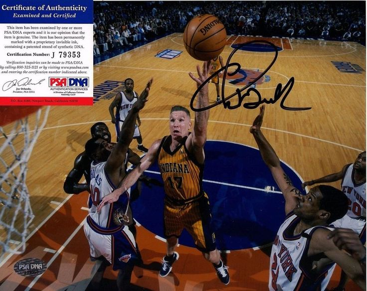 "CHRIS MULLIN Signed 8x10 Metallic photo ""Indiana Pacers"" PSA/DNA #J79353 #IndianaPacers"