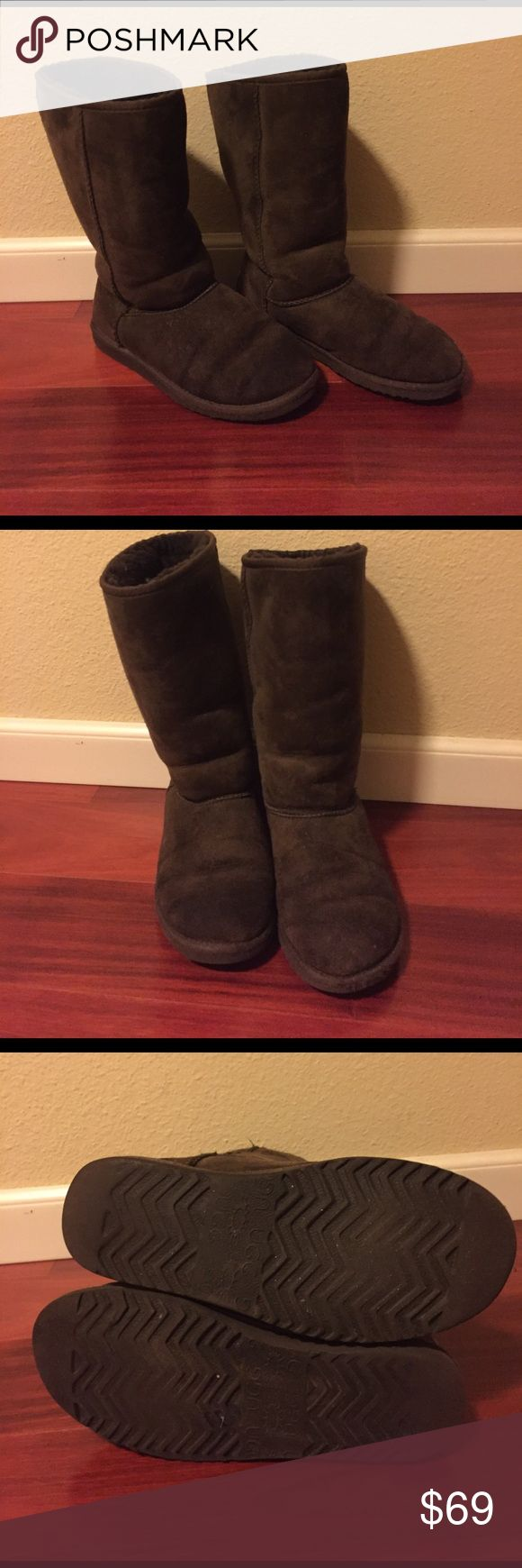 💥 Chocolate brown Classic Tall Kids UGG Boots 💥 Chocolate brown Kids Youth Ugg Boots. Classic Tall height. Style: 5229 Preowned. Worn. No box.  Sold as is. No returns. Size: 6 ( fits women's size 8 ) UGG Shoes Boots