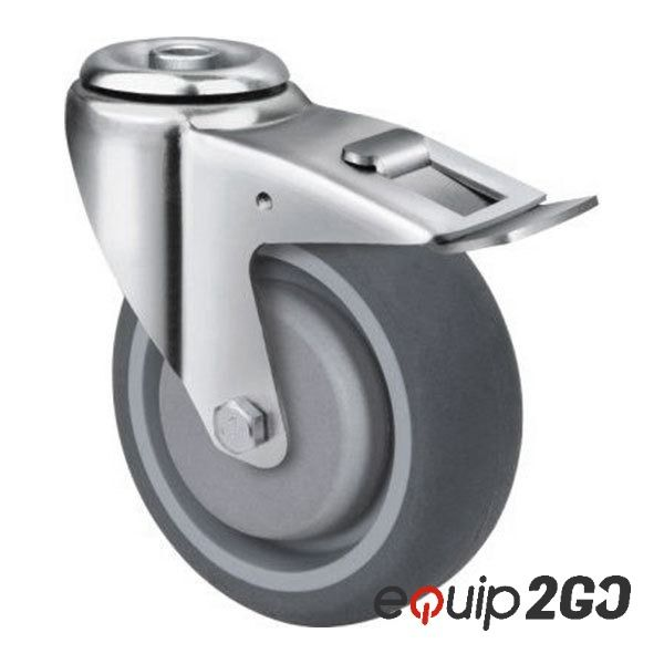 Pin On Industrial Grey Rubber Castors
