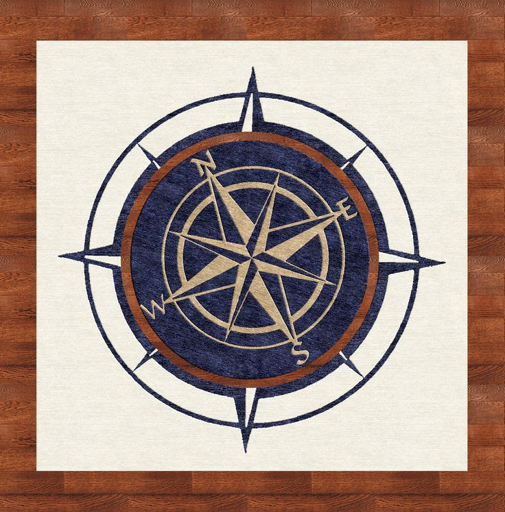 Interactive Compass Rose Rug Design