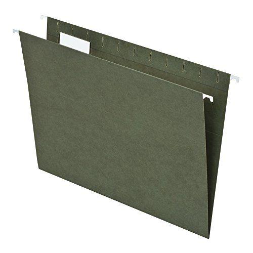 Pendaflex 81602 Hanging File Folders- 1/5 Tab- Letter- Standard Green- 25/Box