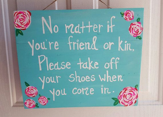 Take Your Shoes Off Sign Remove Your Shoes by ThePeculiarPelican