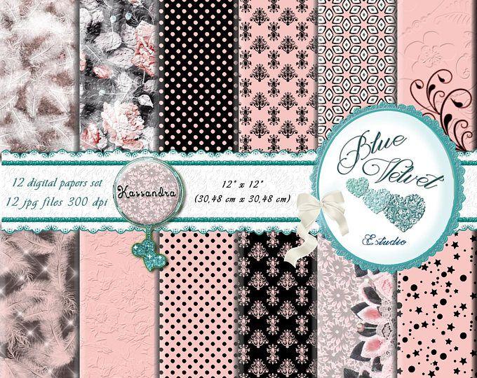 Papeles digitales de las flores, papel digital romántico, fondo digital, papel romántico de las flores, estampado de flores, marrón, rosa, beige. Kassandra