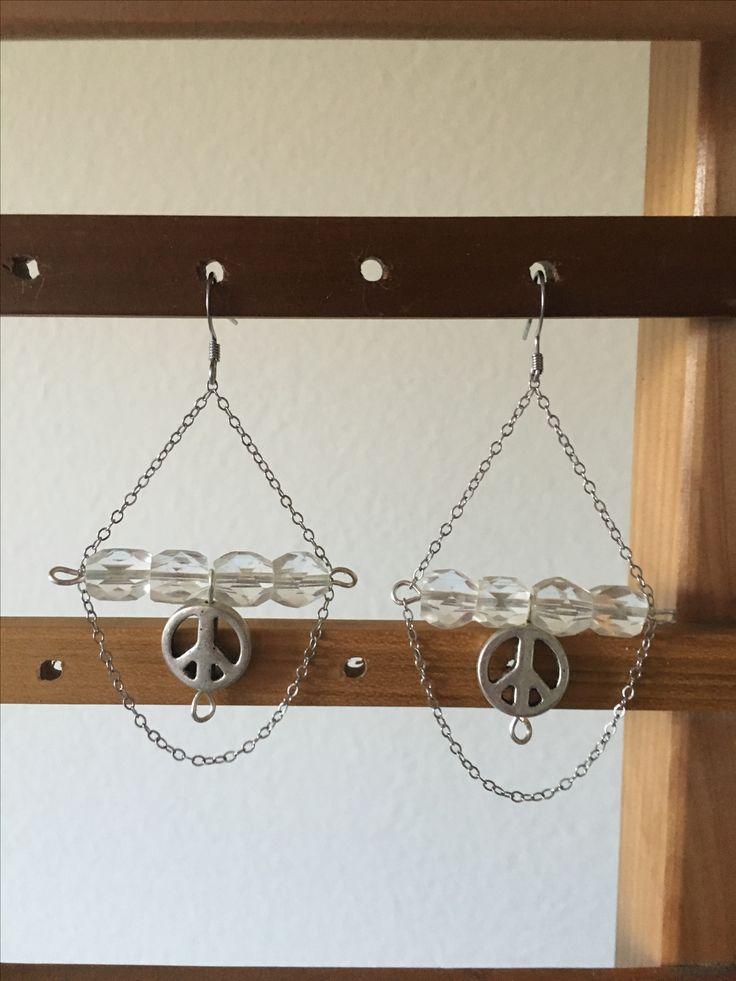Peace glass earrings by MaxAna x