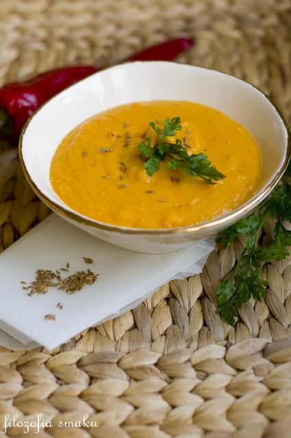 Pittige wortel soep met linzen en kokosmelk   Filosofie smaak