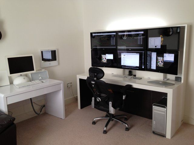 145 best images about trading desk floor work for Home office setup ideas