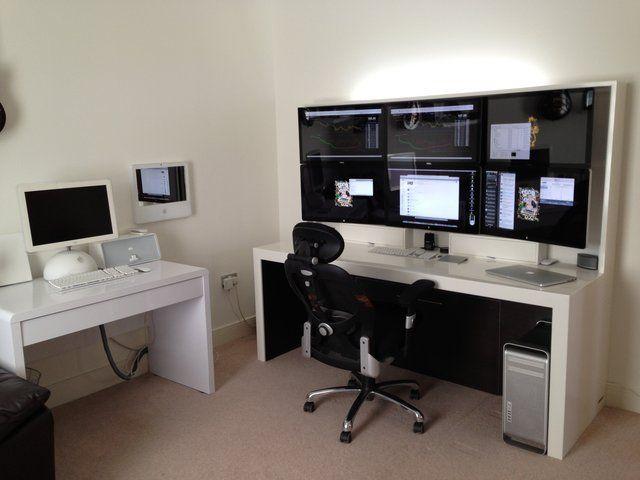 218 best images about home office desk work space battle station on pinterest rigs gaming. Black Bedroom Furniture Sets. Home Design Ideas