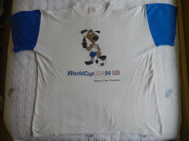 Coke Football clothing 1994 World Cup Willy  T shirt   eBay