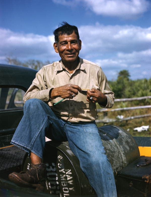 Lonnie Buck: Brighton Reservation, Florida | by State Library and Archives of Florida. 1949
