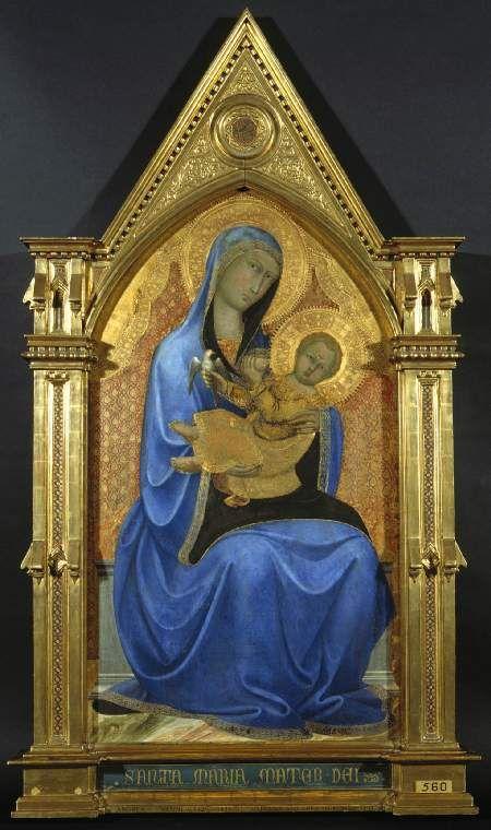 Andrea di Vanni.  Virgin and Child, c.1400.  Fitzwilliam Museum Collections Explorer - Object 560 (Id:668)