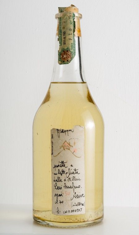 Romano Levi – year 2001 – Grappa with a Little Pink House on the Hill € 350.00 Grappa distilled and bottled by Romano Levi (in his workshop in Neive, near Alba) in 2001, with sealed neck label. Bottle label hand-written by Romano Levi, with a little pink house on the hill. Alcool: 50 °C Bottle: 70 cl Only 1 left in stock #grappa #romanolevi #levi #langhe #piedmont #italy
