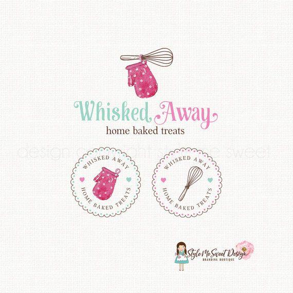oven mitt logo whisk logo design bakery logo by stylemesweetdesign