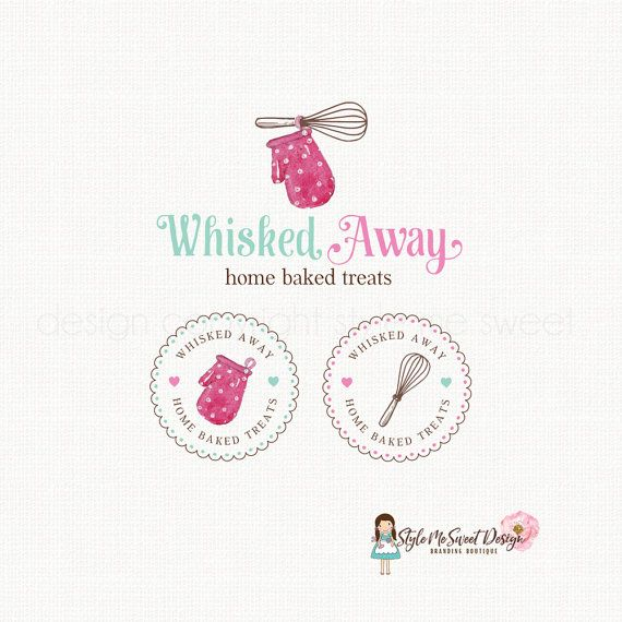 oven mitt logo whisk logo design bakery logo by stylemesweetdesign