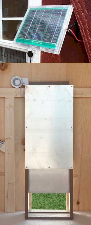 Automatic Chicken Coop Door, Solar Powered Heavy Duty