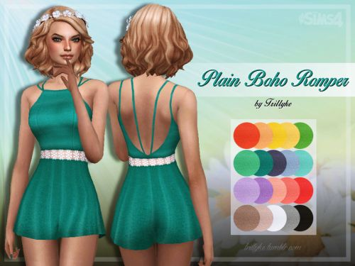 Sims 4 CC's - The Best: Romper by Trillyke