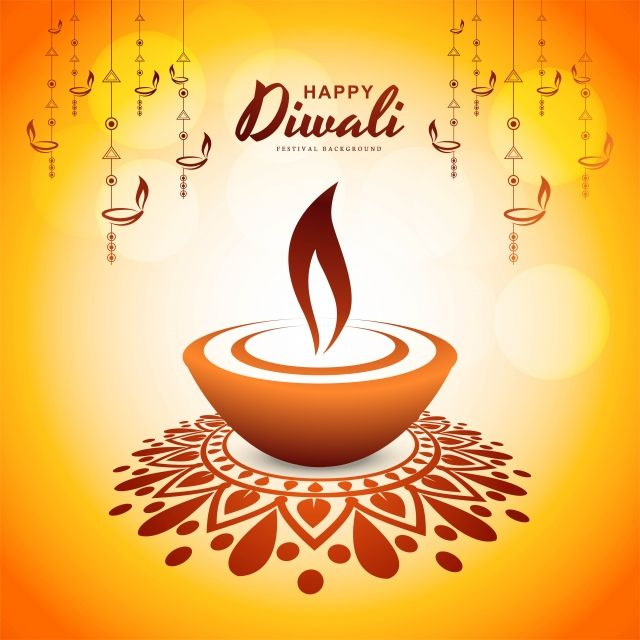 Beautiful Happy Diwali Card Design With Line Art Diya Background Vector And Png Happy Diwali Happy Diwali Images Card Design