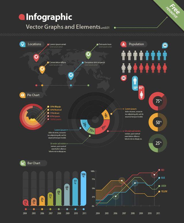 Free & Premium Design Elements For Creating Infographics