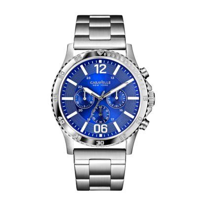 Caravelle New York - Men\'s Logan Blue Dial Chronograph Watch - 43A116 - RRP: £109.00 - Online Price: £93.00