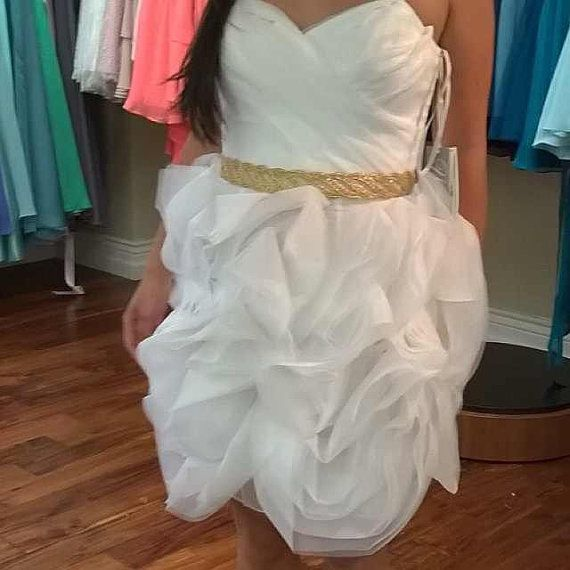 Gold Belt Metallic Gold Sash Bridal Sash Bridal by LovelyBride2B