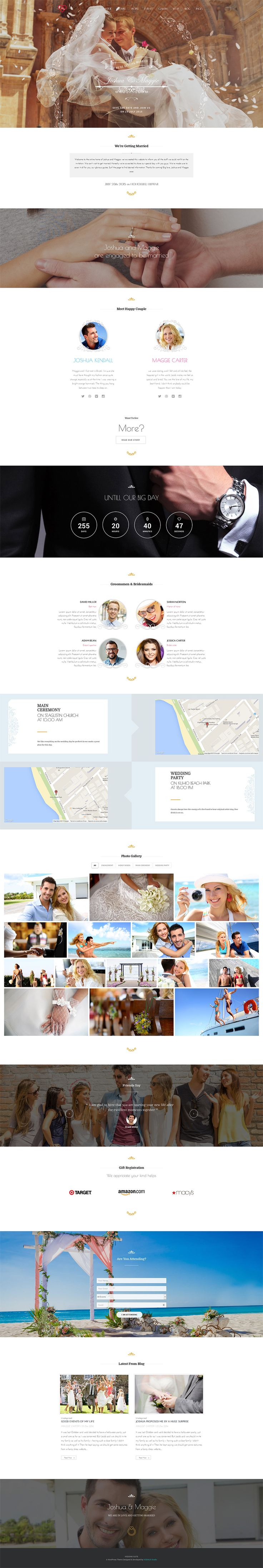 Wedding Suite - WordPress Wedding Theme #website #wedding #web #wordpress #wp #theme [www.pinterest.com/loganless/]