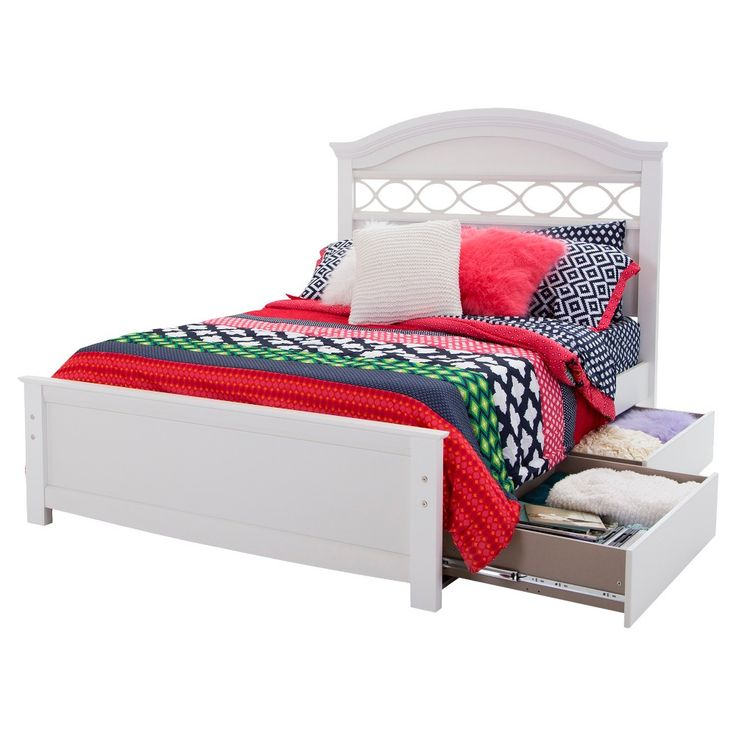 Safi Storage Bed with Headboard Eternal White (Full) - South Shore