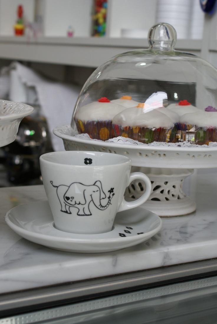 Taza de Té de porcelana Verbano de Las Nereidas.