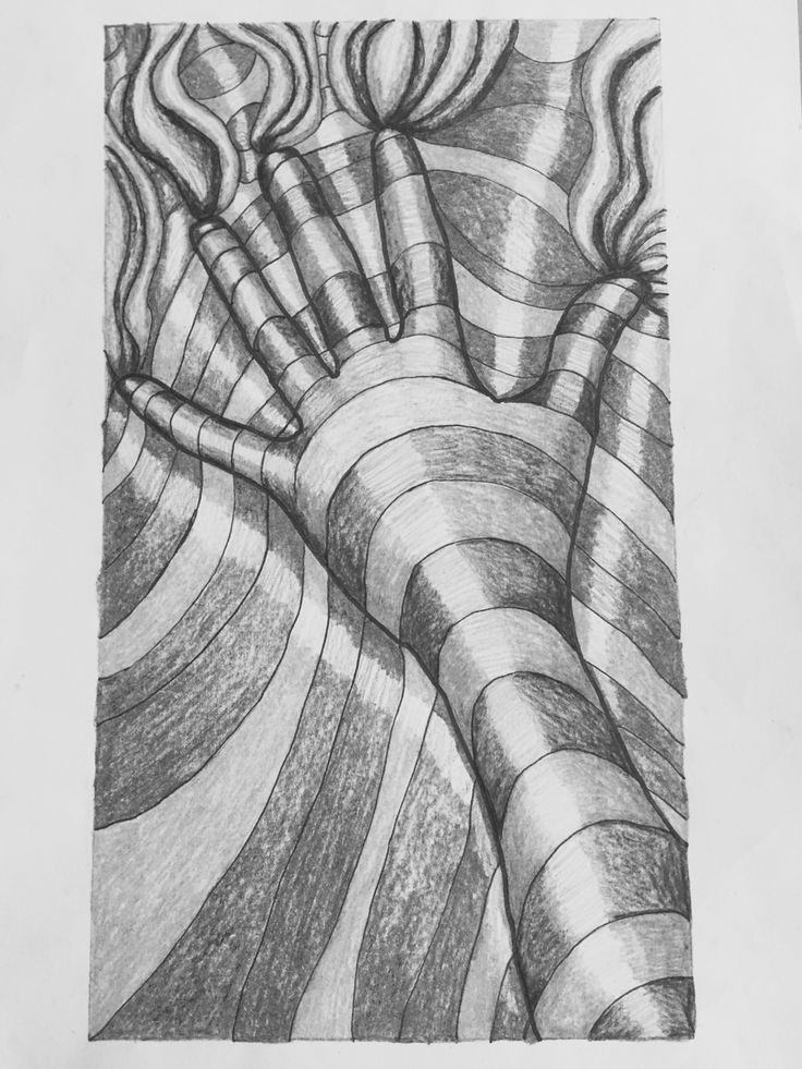 Same op art pic w black and white filter.