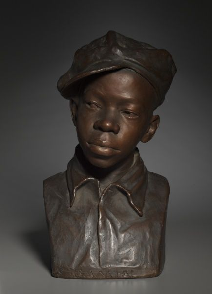 "Augusta Savage was a famous sculptor of the Harlem Renaissance. This sculpture is known as ""Gamin"". It is actually a bust inspired by her nephew. This piece earned her a big break in the art industry"
