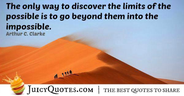 Quote About Inspiration - Arthur C. Clarke