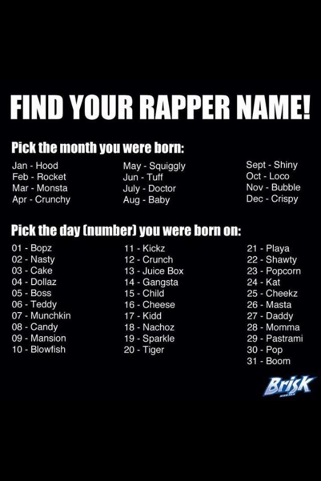 how to make a good rap name