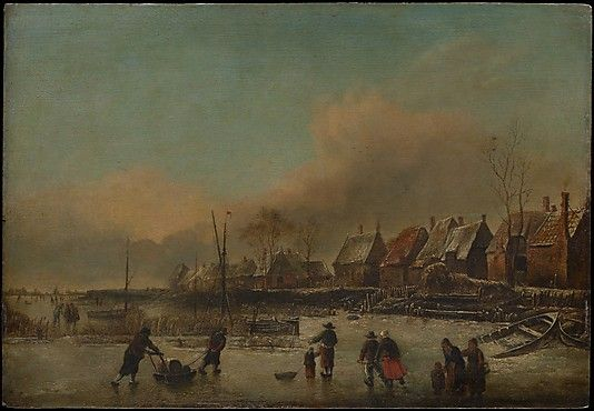 Style of Jan van de Cappelle (18th or 19th century). Winter Scene. The Metropolitan Museum of Art, New York. The Friedsam Collection, Bequest of Michael Friedsam, 1931 (32.100.16)