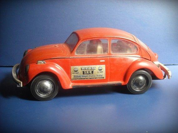 Vintage Volkswagen Vw Beetle Bug Whiskey Decanter Jim Beam