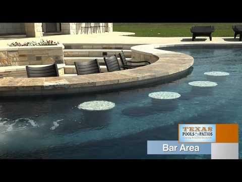 Pool Features: Swim Up Bar, Texas Pools And Patios #TexasPoolsandPatios