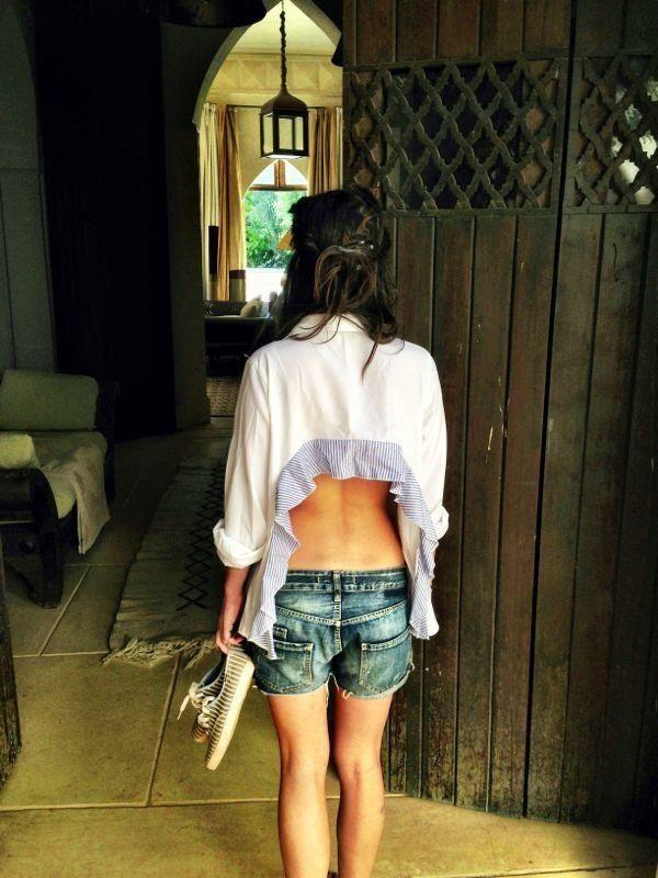 Htapodi Shirt  #htapodi #openbackshirt #madameshoushou #morocco #keds #summer #madame shou shou #stripes Leave open your back!! :)