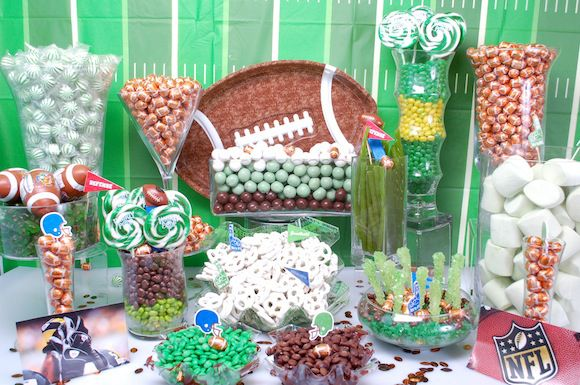football-candy-buffet