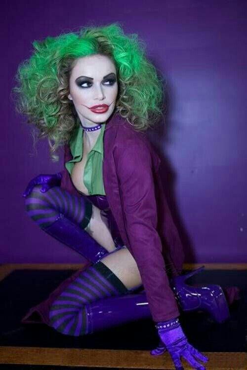 Female Joker costume. I LOVE this hair