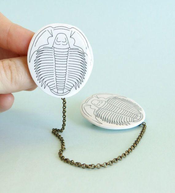 TrilobiteCardigan or Collar Pins by Your Organ Grinder